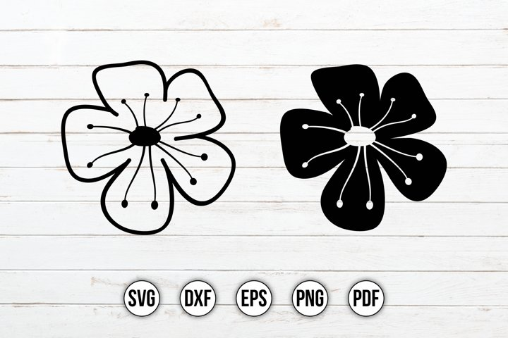 Wildflower SVG, Flowers SVG, Floral Clipart