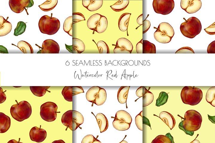 Apple Digital paper,Scrapbook Paper, ,Seamless patern
