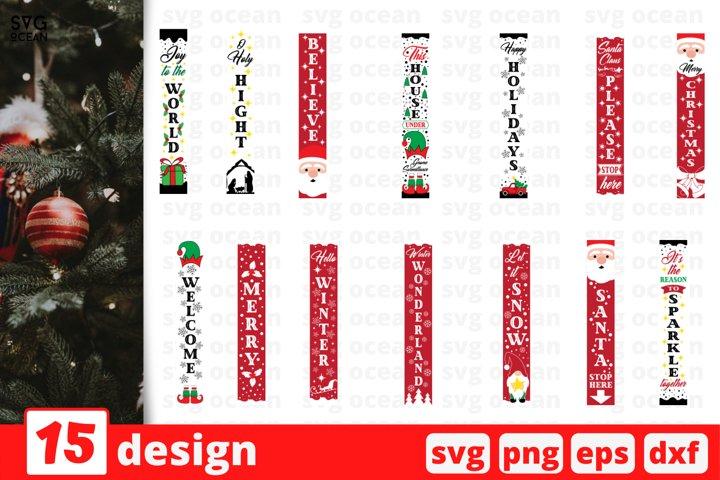 Christmas Porch SVG Bundle| Christmas Sign Cut File