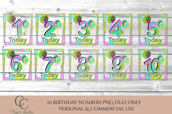 Sublimation design bundle - Birthday numbers