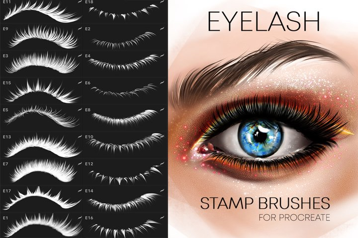 Procreate Eyelashes brushes Makeup