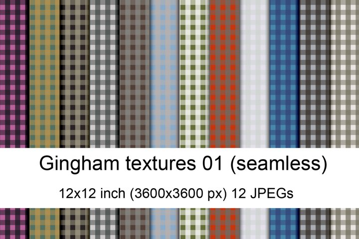 Seamless gingham textures