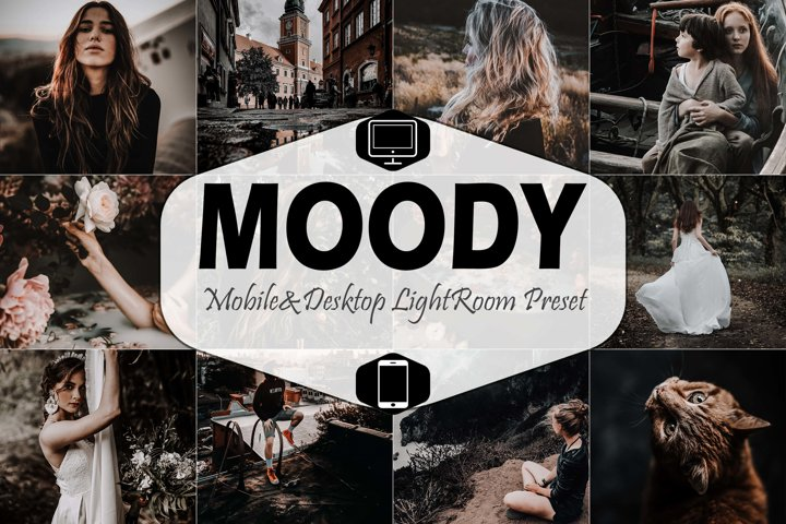 10 Moody Mobile & Desktop Lightroom Presets, instagram tone