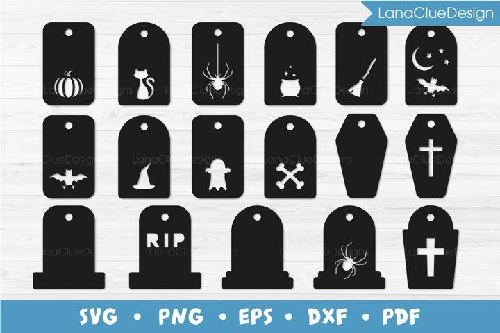 17 Halloween Gift Tags SVG Bundle Cut Files