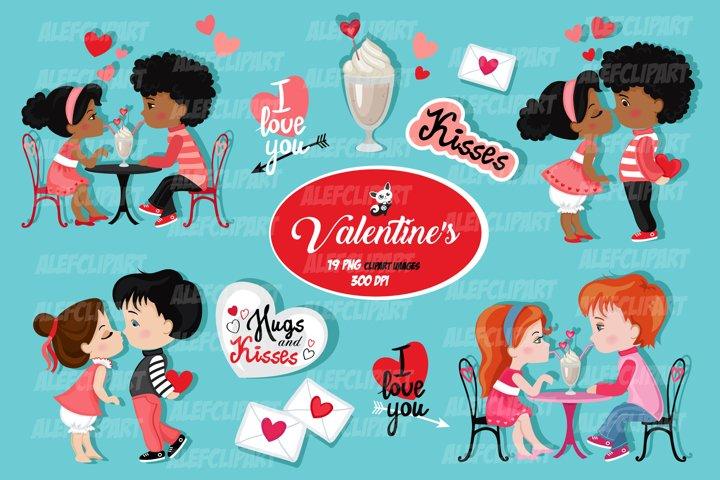 Valentine kids clipart , My Cute Valentine.