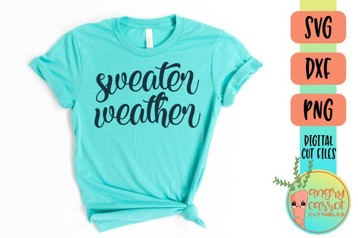 Sweater Weather SVG Files | Winter SVG
