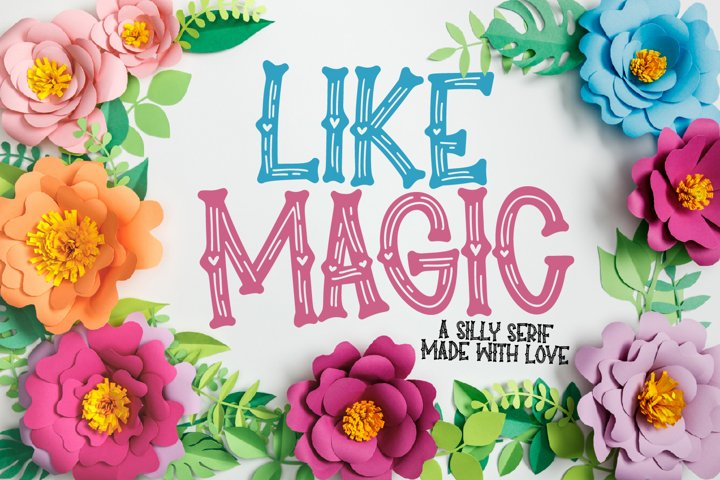 Like Magic - A Wooden Silly Heart Serif
