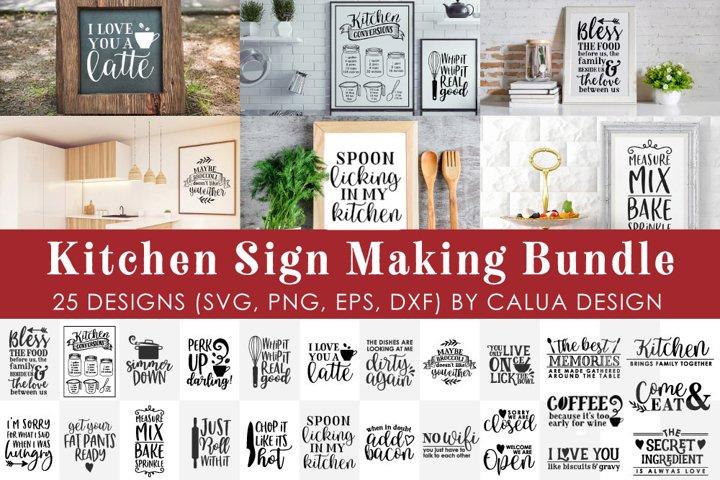 BIG Kitchen Sign Making Cut File Bundle