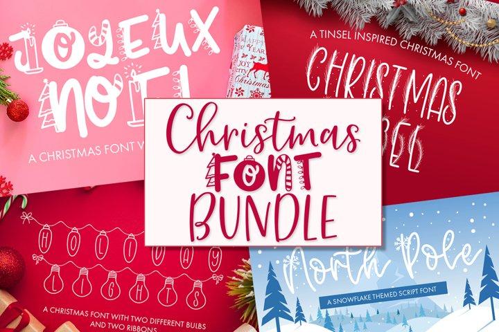 Christmas Font Bundle - 9 Font Designs