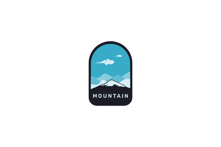 Vintage retro mountain badge logo design inspiration