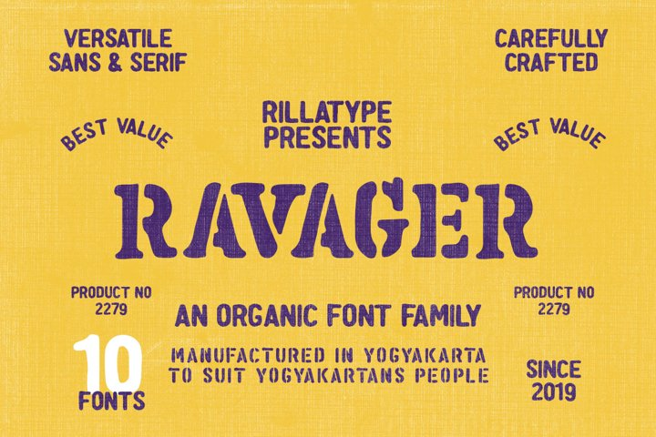 Ravager - Organic Typeface Family