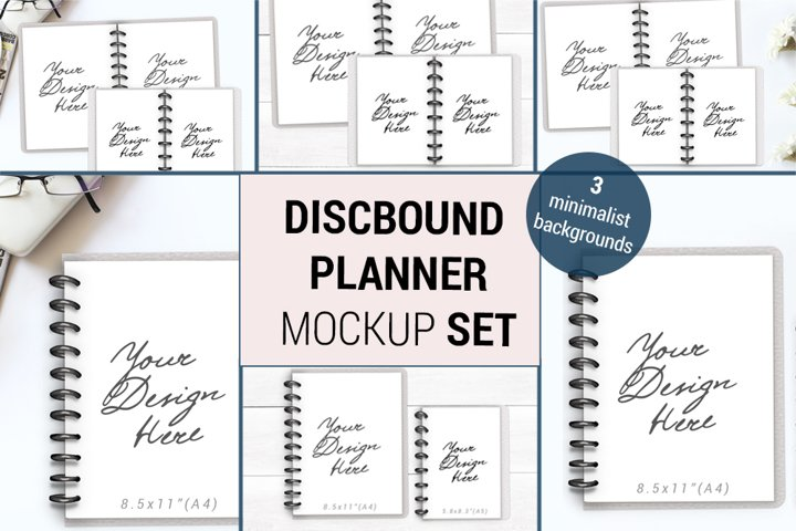 Discbound TUL Planner Mockup, Open Notebook Mockup, 1088
