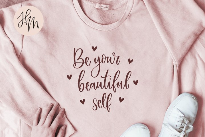 Be your beautiful self cut file SVG DXF EPS PNG JP