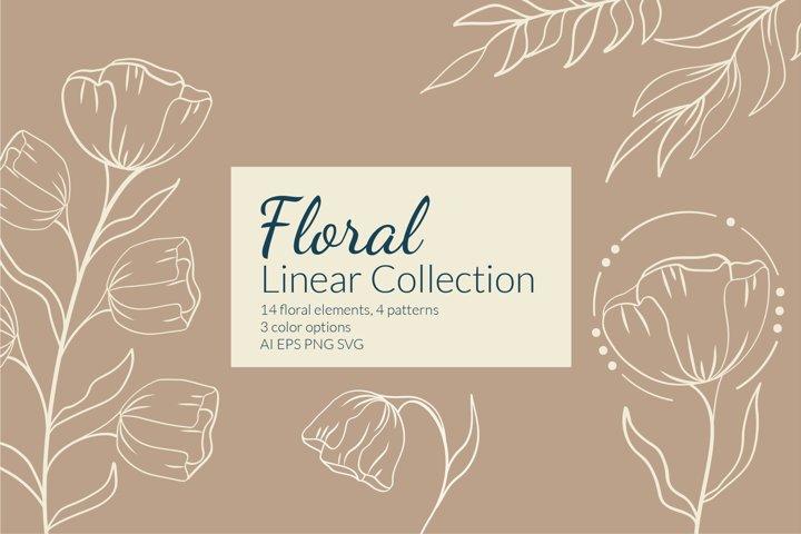 Botanical flower svg | Floral line art clipart SVG
