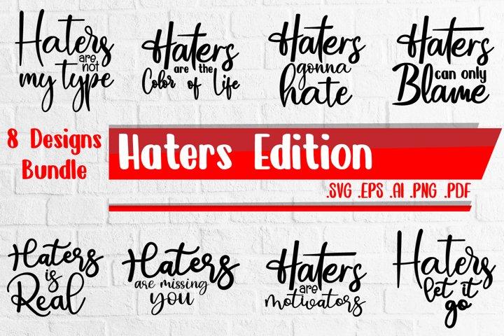 Haters Bundle svg eps ai png pdf