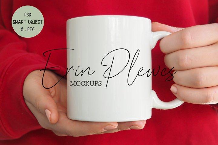 Mug Mockup | Coffee Mug Mock-up Model Hands PSD Smart Object