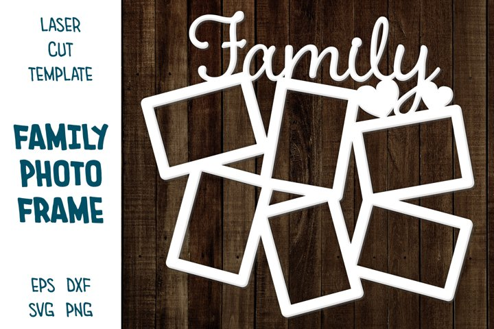 Collage for Family Photos, Photo Frames with sign Family SVG