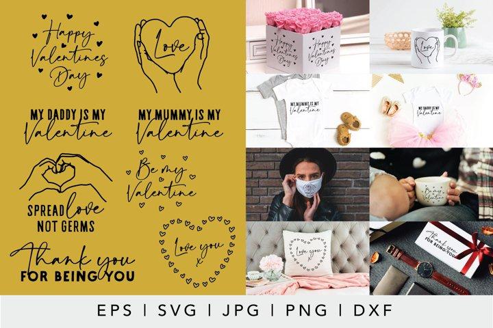 Valentines Day SVG Bundle 2 | Hand drawn love illustrations