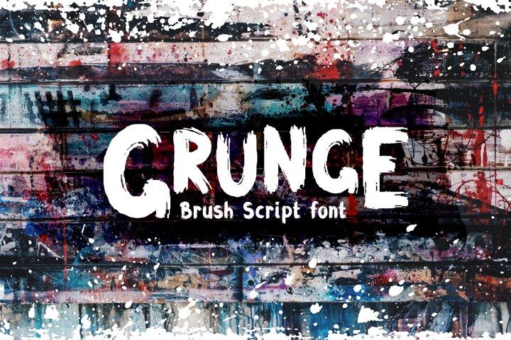 Grunge Latin and Cyrillic Brush Script Font