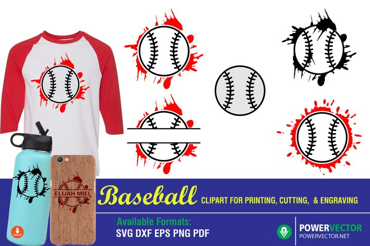 Baseball SVG Cutting Engraving Clipart for Crafters