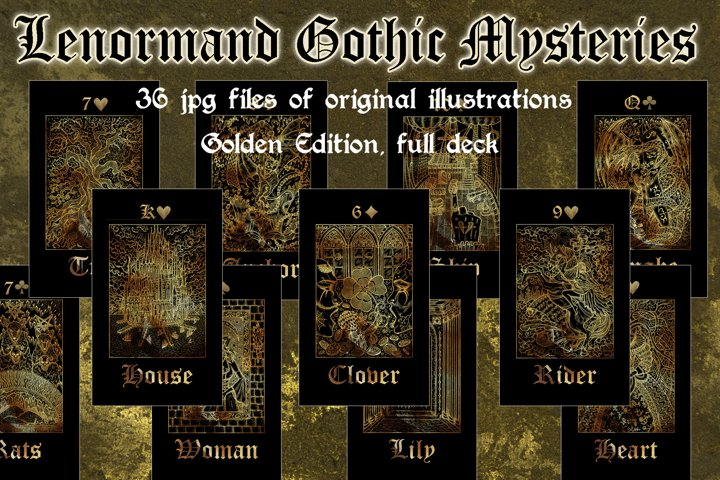 Lenormand Gothic Mysteries, gold edition