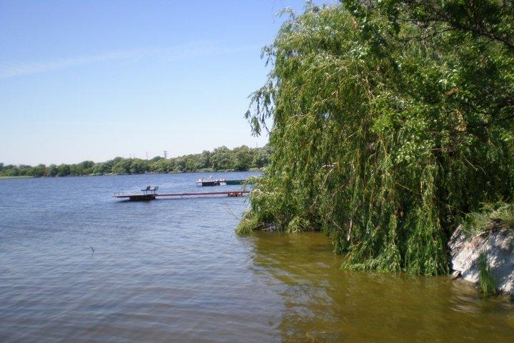 Beach ukrainian Dnieper River. Summer2012