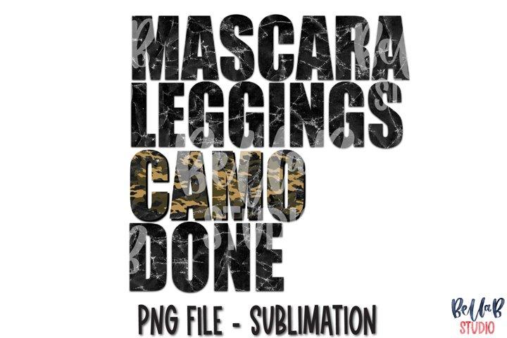 Mascara Leggings Camo Done Sublimation Design