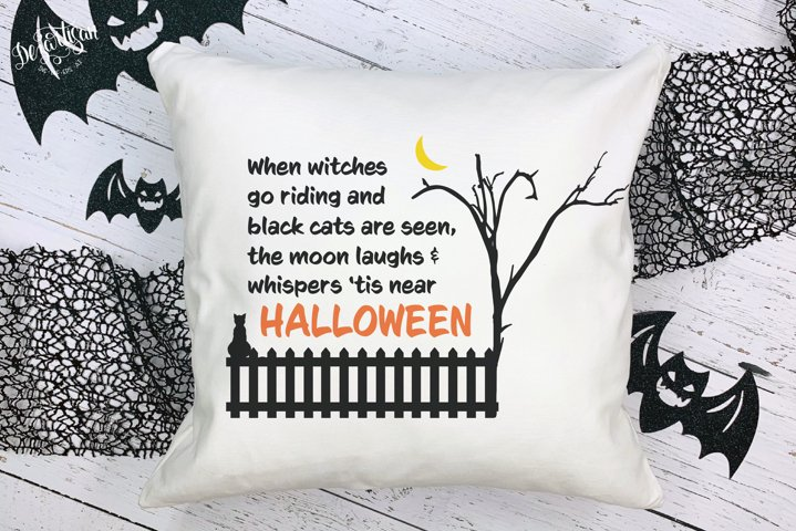 Halloween When Witches go riding black cats SVG DXF Cut File