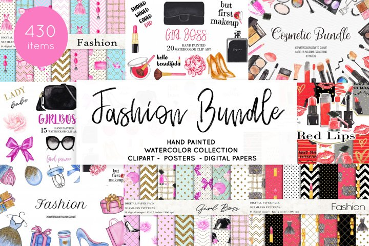 Watercolor Fashion Makeup Bundle