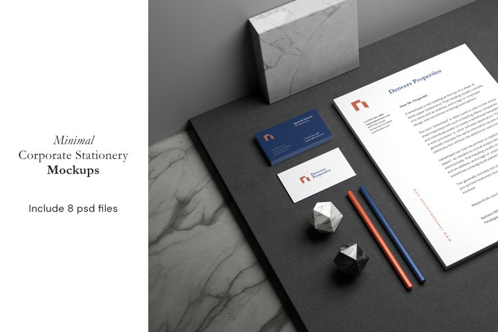 Minimal Corporate Stationery Mockup