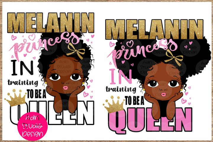 I am melanin princess, peekaboo girl svg