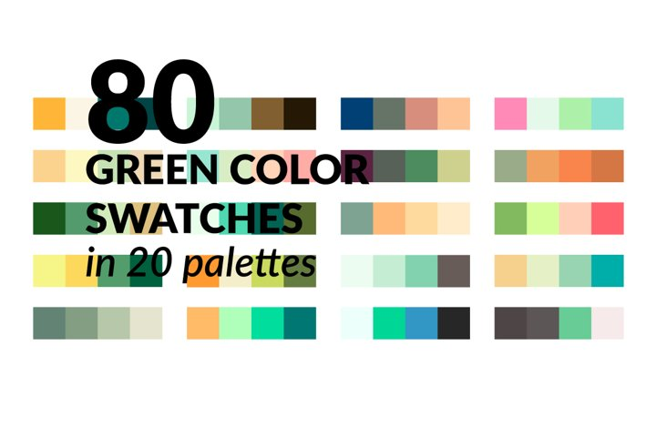Green Color Palette - 80 Swatches
