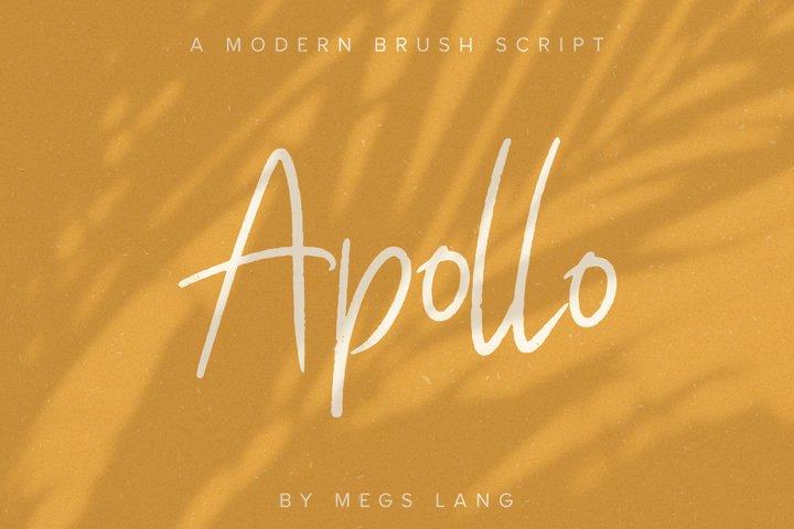 Apollo // A Modern Brush Script Font