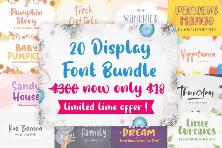 20 Display Font Bundle !