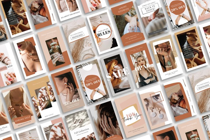25 Canva Instagram Story Templates   Jewelry Store
