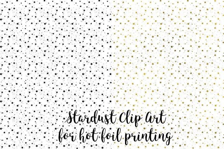 Stardust Clip Art, Stars Clip Art for hot foil printing, PNG