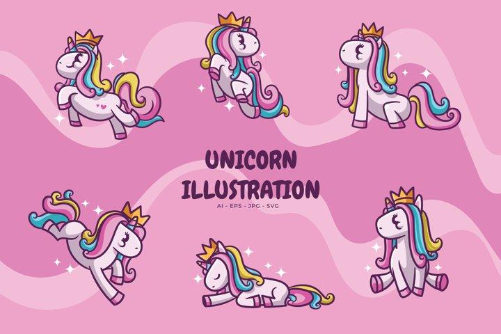Unicorn illustration pack