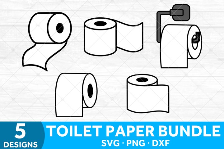 Toilet Paper SVG Bundle, SVG Files for Bathroom Decor
