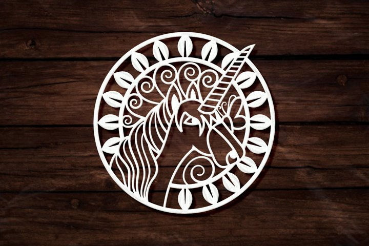 Unicorn Ornament Intricate Paper Cut Design - SVG Cut Files