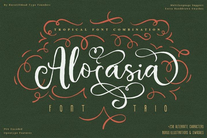 Alocasia-Trio Font Combination