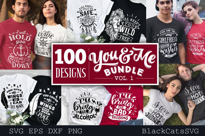 Couple matching outfits SVG bundle 100 designs vol 1