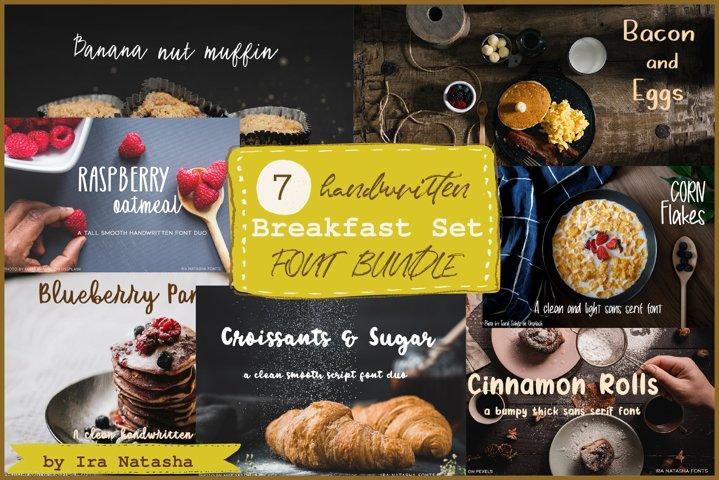 Breakfast Set Font Bundle