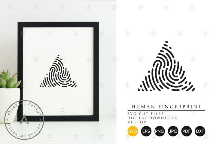 Fingerprint Svg, Eps, Png, Dxf