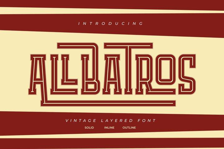 Allbatros | Vintage Layered Font
