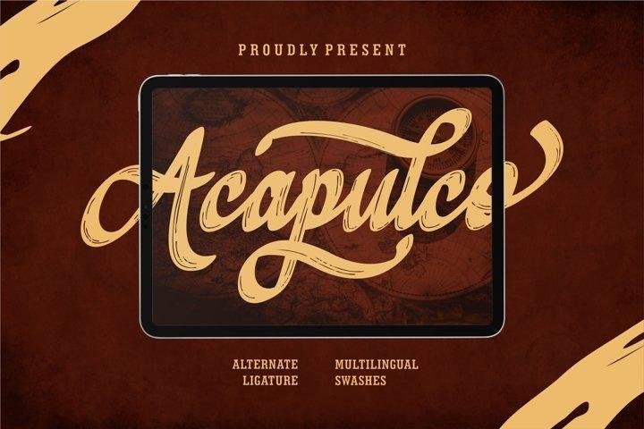 Acapulco Script Textured Brush Font