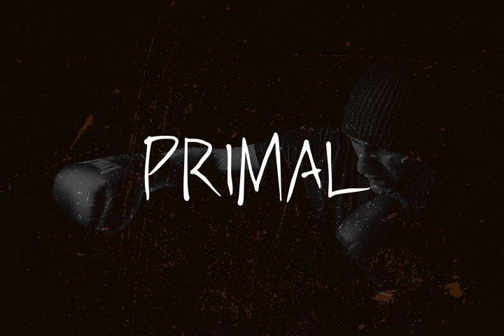 PRIMAL - handwritten brush font