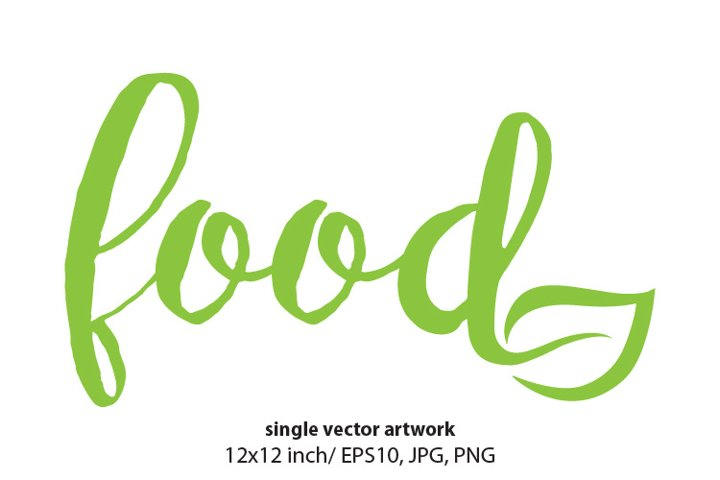 FOOD, SINGLE VECTOR ARTWORK