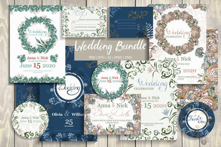 Wedding Cards Template Bundle