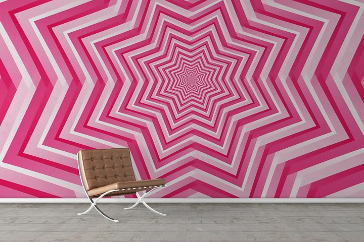 Abstract Pink Geometric Design Background