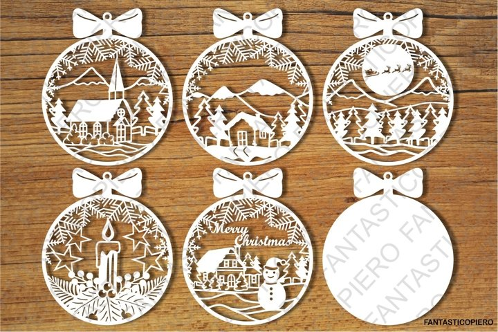 Baubles, Christmas Balls SVG files for Silhouette and Cricut